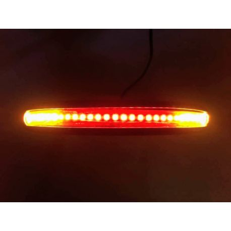 CURVA SUBCHASIS CON LED DE FRENO E INTERMITENTE CAFE RACER - 22 mm