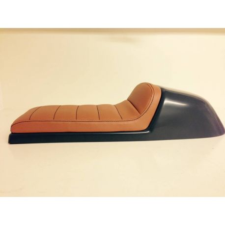 ASIENTO CAFE RACER TUCK MARRON