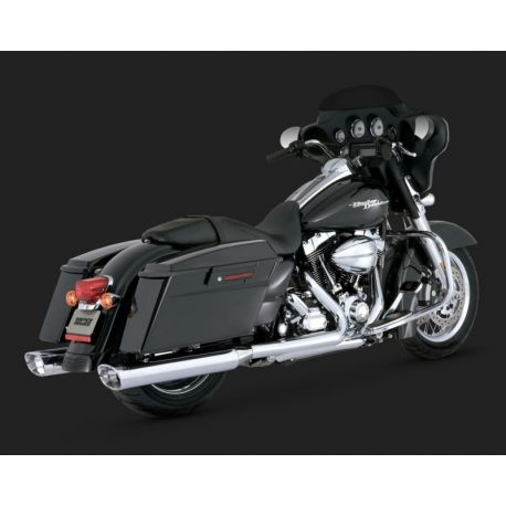 ESCAPE VANCE & HINES MONSTER OVALS WITH CHROME TIPS