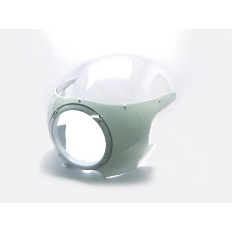 CARENADO CAFE RACER MAS FARO 17,1CM BLANCO