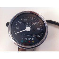VELOCIMETRO 140KM/H ACERO CAFE RACER