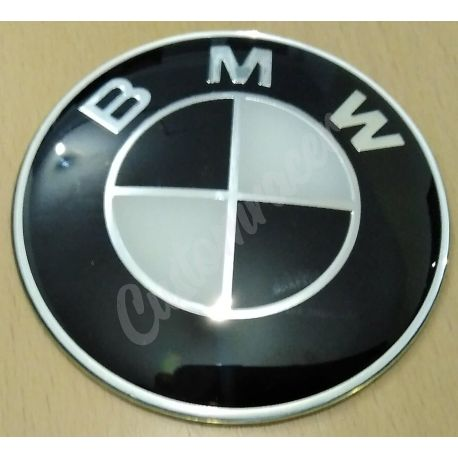 EMBLEMA BMW ORIGINAL 70MM NEGRO Y BLANCO