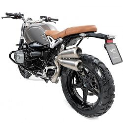 ESCAPE DOBLE SCRAMBLER BMW NINE T TITANIO