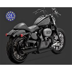 "COLAS SPORTSTER 14 - UP TWIN SLASH 3"" NEGRAS HOMOLOGADAS"