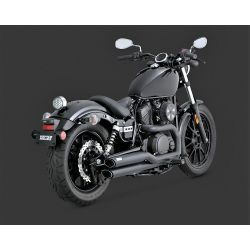 ESCAPE YAMAHA XVS 950 VANCE & HINES TWIN SLASH STAGGERED BLACK