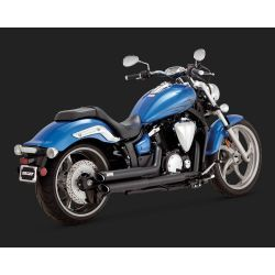 ESCAPE YAMAHA XVS 1300 VANCE & HINES TWIN SLASH STAGGERED BLACK