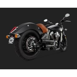 ESCAPE INDIAN SCOUT VANCE & HINES GRANADE BLACK