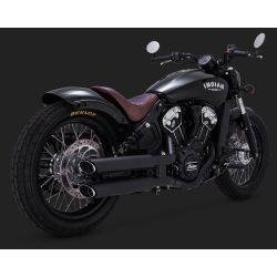"ESCAPE INDIAN SCOUT VANCE & HINES TWIN SLASH 3"" SLIP-ONS"