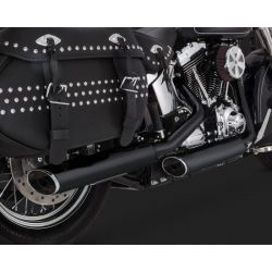 ESCAPE VANCE & HINES EC TWIN SLASH SLIP-ONS BLACK SOFTAIL 07-15